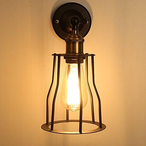 E27 Base 1- Light Sconce Light Lamp Vintage Industrial Adjustable Pendant Wall Light Fixture Lighting Metal Copper Pendnat shade 40W Ceiling Hanging light