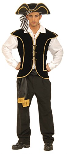 [Forum Novelties Mens Caribbean Buccaneer Pirate Vest Theme Party Fancy Costume, One Size] (Pirate Theme Party Costumes)