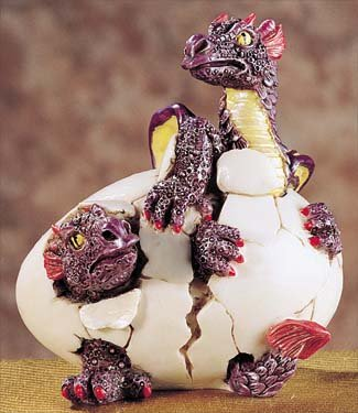 Dbl. Dragon Hatching (Purple) - Collectible Figurine Statue Figure