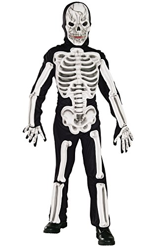 [Skeleton Costume, Children's Large] (Awesome Boy Halloween Costumes)