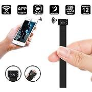 WiFi Mini Spy Camera, Night Vision 1080P Portable Mini DIY Hidden Camera Module/Nanny Cam - WiFi Live Stream View - Motion Detection - Push Notification Support iOS & Android, PC