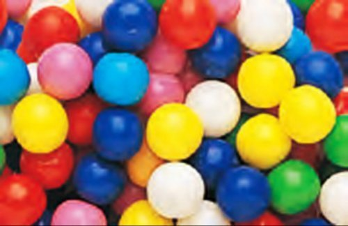 Dubble Bubble Assorted Colors 1/2 Inch Gumballs 1LB Bag -