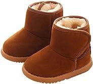 Shanx Toddler Baby Boy Girl Cotton Rubber Sole Super Warm Fleece Snow Boots Soft Crib Shoes Booties Prewalker