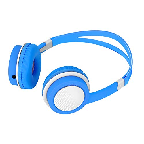 Kid Headphones Safe with 85dB Volume Limiting, Foldable and Adjustable On-Ear Headphones 3.5mm Jack Wired for Children Baby Infant Boys and Girls(Blue)