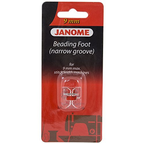 - Janome Beading Foot Narrow Groove For 9mm Machines