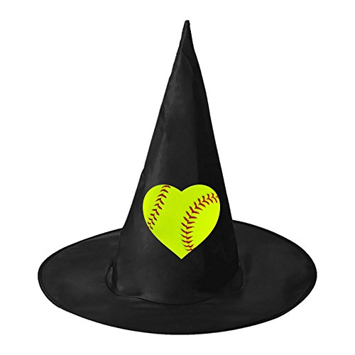 [Halloween hat The heart of baseball Teens Black Witch Costume Cap for Halloween] (Dead Dorothy Costumes)