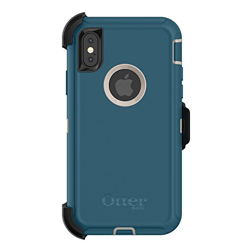 OtterBox 77-57029 DEFENDER SERIES Case for iPhone X (ONLY) BIG SUR (PALE BEIGE/CORSAIR) (Certified Refurbished)