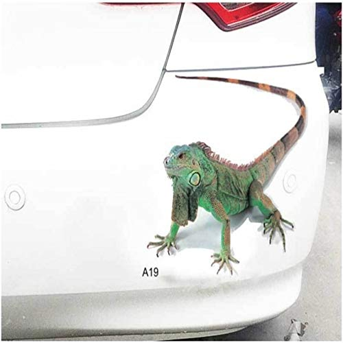 Melva R. Schwartz Bumper Stickers, Decals - Car Stickers and Decals Custom,1PC 3D Car Stickers Decals Realistic Animal Classic Personality Waterproof Body Car Accessories - Green Lizard (Print Metallic Lizard)