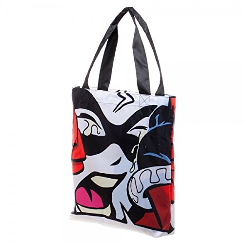 Ufficialmente con licenza DC Comics cattivi Harley Quinn Logo Packable Tote Bag