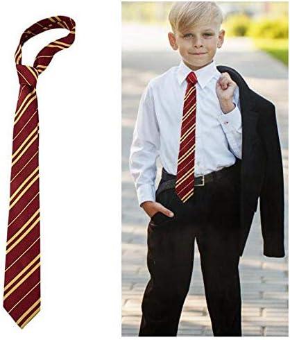 FOONEE Corbata de Rayas Rojas para niños, Corbata de Escuela para ...