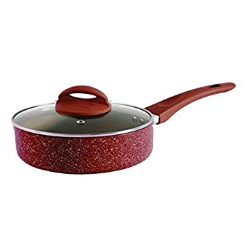 Oster 104438.02 Summerhaven 3.5Qt Aluminum Covered Whitford Non Stick Saute Pan with Helper, Red