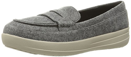 FitFlop Women's F-Sporty Penny Loafers Flat Charcoal
