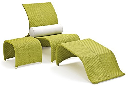 Landmann GarVida Rattan Sessel-Set Fiorana - Farbe: Apple Green