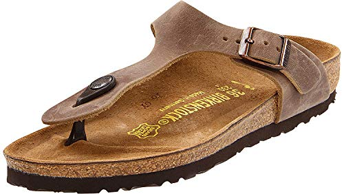 (Birkenstock Gizeh Tobacco Oiled Leather Sandal 40 R (US Women's)
