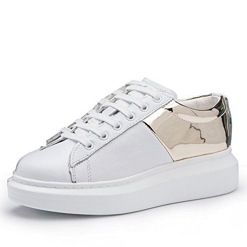 Primavera Zapatos Plano Otoño Zapatillas Casuales Lentejuelas zapatos C fondo Zapatos cabeza Y Correa Redonda Moda De 8w6qEz
