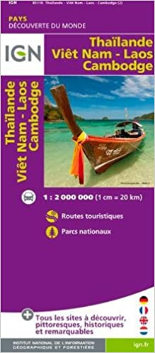 Carte Du Monde Laos.Thailand Vietnam Laos Cambodia 1 2m Ign M P 85110 Carte
