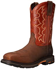 All conditions Workhog with Western flair. Ariat's ATS Max platform provides maximum torsional stability for reduction of foot fatigue and proper body alignment. The sole pairs a lightweight cushioning EVA midsole with Ariat's highly abrasion...