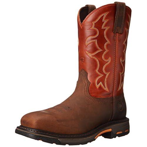 Ariat Men's Workhog Steel Toe Work Boot, Earth/Brick, 11 EE US