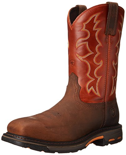 Ariat Men's Workhog Steel Toe Work Boot, Earth/Brick, 10.5 EE US