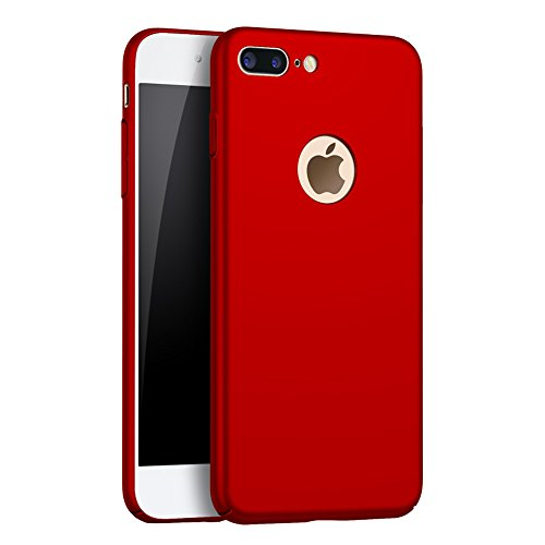 QueenAcc Phone Case for iPhone 7 plus, Hard Protect Case Back Cover Bumper,Ultra-Thin Perfect Fit, Slim Minimal Anti-Scratch Protective Lightweight case for iPhone 7 plus.(red)