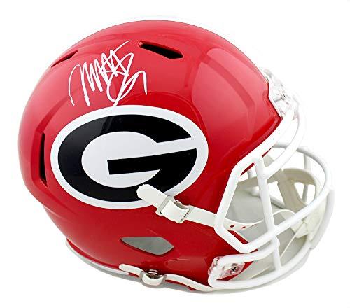 Mecole Hardman Autographed/Signed Georgia Bulldogs Schutt NCAA Full Size Speed Helmet