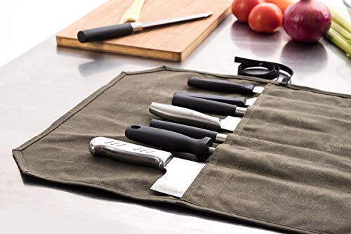 Amazon.com: Khaki - Estuche para cuchillos de chef, lienzo ...
