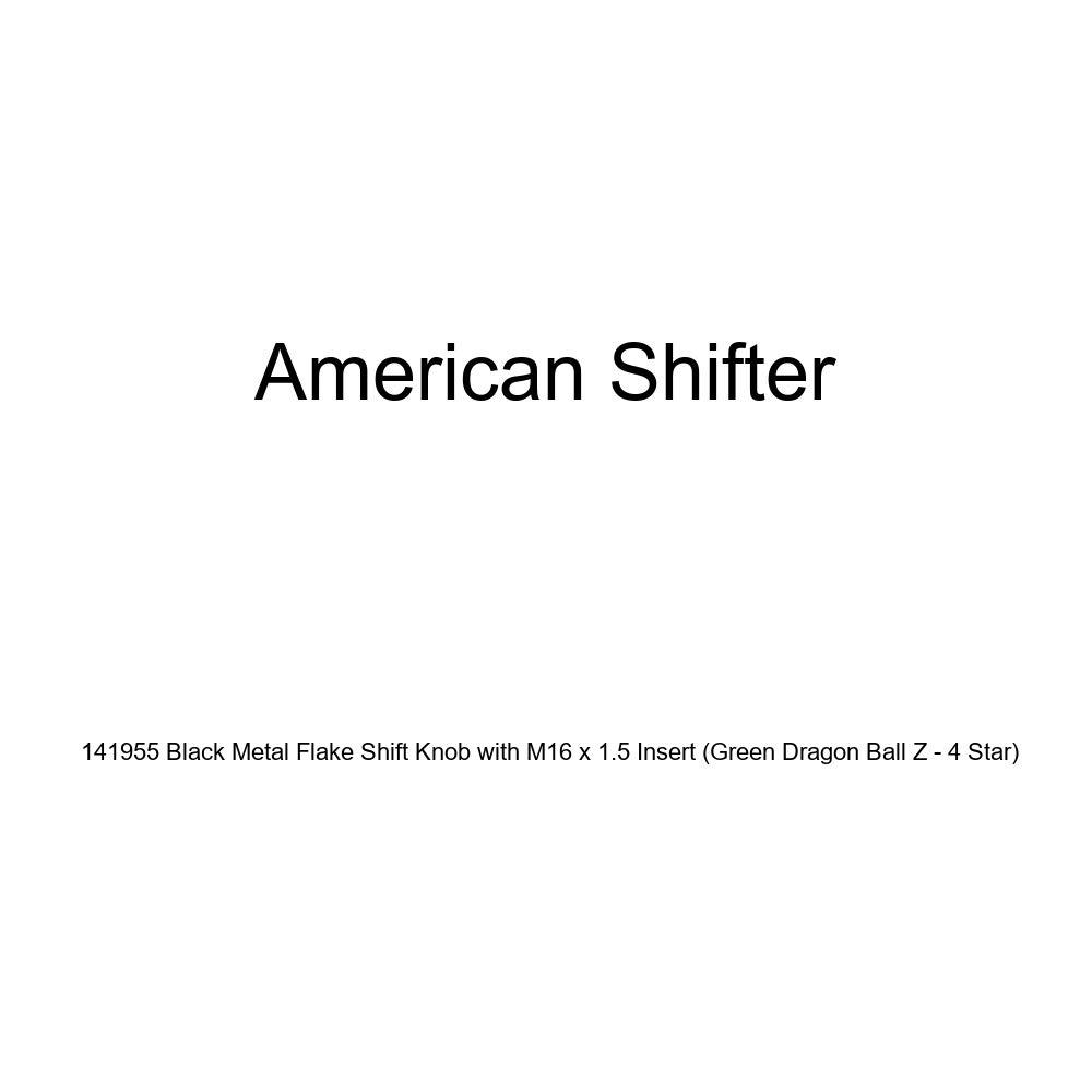 Green Dragon Ball Z - 4 Star American Shifter 141955 Black Metal Flake Shift Knob with M16 x 1.5 Insert