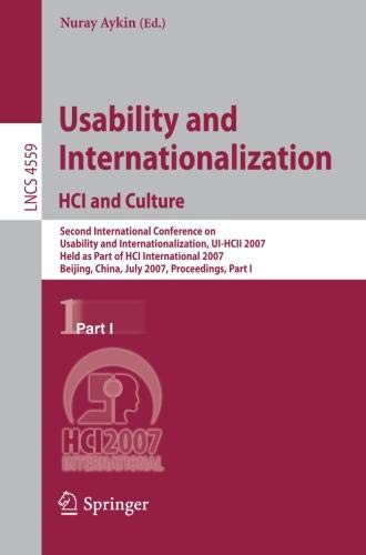 Usability and Internationalization. HCI and Culture (Lecture Notes in Computer ()