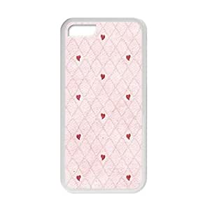 Cute Red Heart With Pink Background personalized creative custom protective phone case for ipod touch4