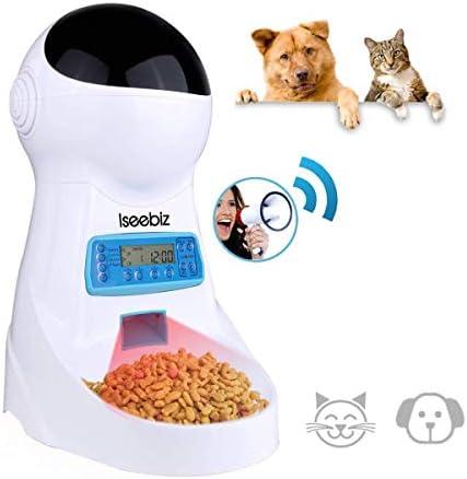 Iseebiz Comedero Automtico Gatos/Perros Dispensador Comida para ...