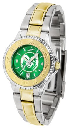 Colorado State Rams Competitor AnoChrome Ladies Watch with Two-Tone Band by SunTime