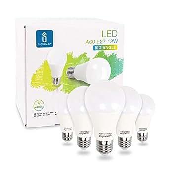 Aigostar - Bombilla LED E27 12W equivalente a 100 W, 6400K, 1020 lúmenes,