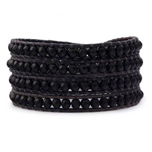 black-wrap-bracelet-crystal-multilayer-4mm-handmade-genuine-black-leather-woven-bangle