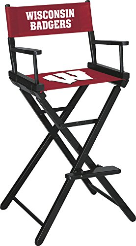 Imperial Officially Licensed NCAA Merchandise: Directors Chair (Tall, Bar Height), Wisconsin Badgers