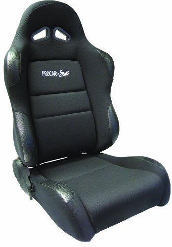 ProCar by Scat 80-1605-61L Sportsman Black Vinyl/Velour Left Racing - Seat Corbeau