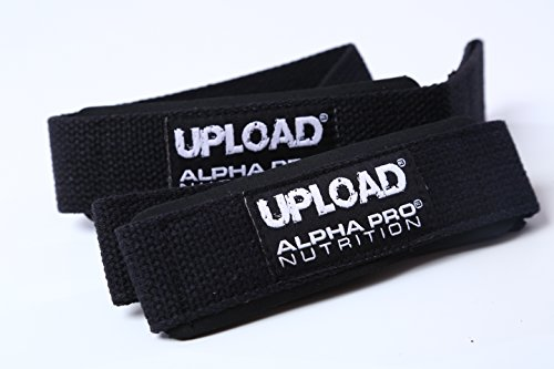 Cheap Padded Lifting Straps UPLOAD Alpha Pro, Soft Cotton Thick Neoprene Padded for Weightlifting Bodybuilding Crossfit Powerlifting Gym. 1 pair, 2 straps
