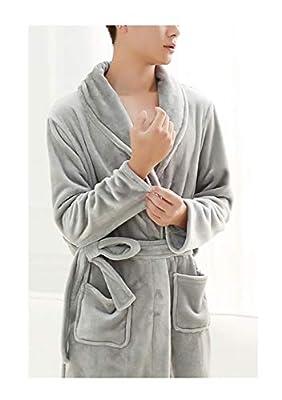 Femaroly Male Winter Thickening Long Flannel Bathrobe Autumn Coral Fleece Warm Lounge Robe Sleepwear