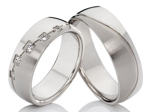 2 alianzas de compromiso Póster con anillos de alianzas y corazones de amistad anillos de acero