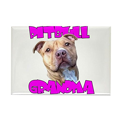 CafePress Pitbull grandma Rectangle Magnet Rectangle Magnet, 2