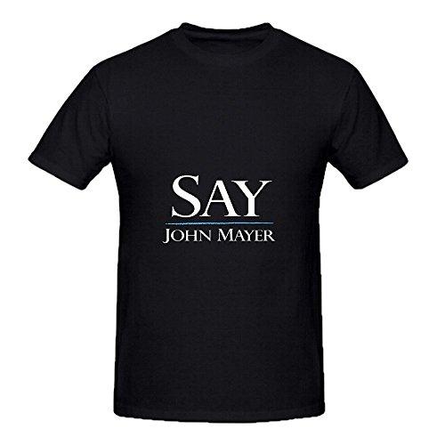 Price comparison product image John Mayer Say Roll Mens Crew Neck Short Sleeve Tee Shirts Black
