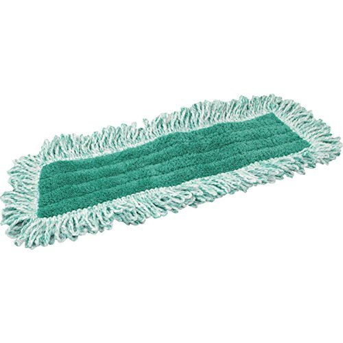 Zwipes Professional Premium Microfiber Dust Replacement Mop Pads with Fringe, 36 inch, 2-Pack, Green by Zwipes Professional