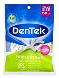 Beauty : DenTek Triple Clean Floss Picks, 150 Count