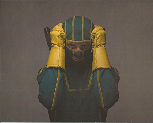 Kick Ass Aaron Taylor-Johnson wearing mask gloved hands on head - 8 x 10 Costume Test Photo - #8 - 004]()