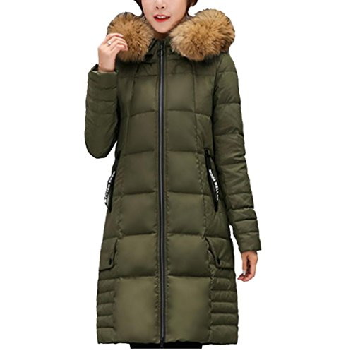 YANXH The New Winter Thickening Down Jacket Female In The Long Section Large Size Coat , ArmyGreen , XL by YANXH outdoors