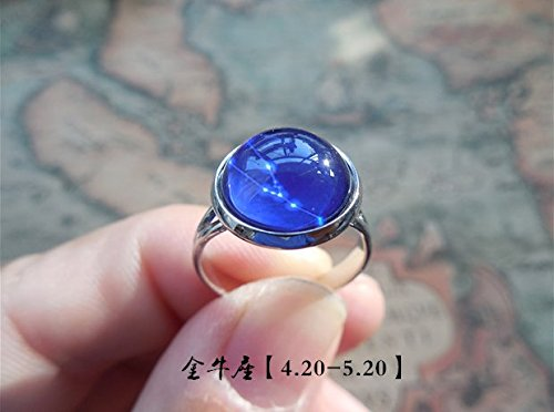 Creative fashion elegant Masquerade party wear classic adornment birthday gift The 12 zodiac harajuku Star symbol Silver ring jewelry (Taurus (Adult Taurus Costumes)