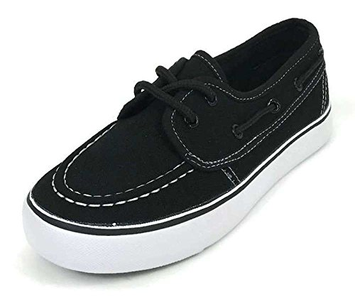 Boys Kids Classic Boat Canvas Slip-on Loafers