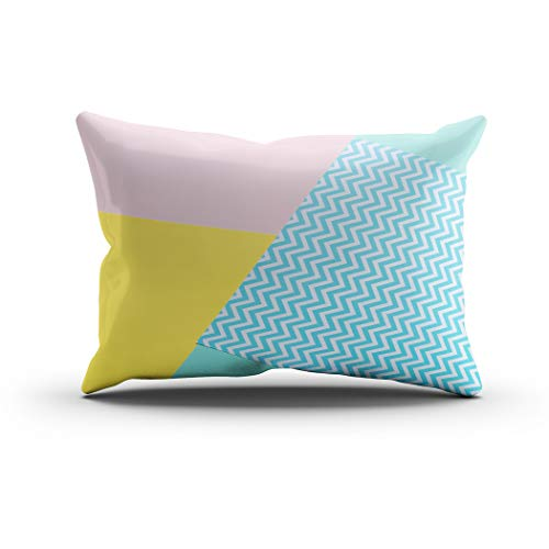 Sgvsdg Throw Pillow Cover Texture Background Fashion Pastel Colors Pink Rectangle Hidden Zipper Home Sofa Living Room Cushion Decorative Pillowcase 20 x 36 Inch]()
