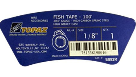 Electrical Fish Tape Reel - 100 Foot Reach - High Case for Electricians, Pull Communication Wire Cable Line From Drywall, Ceiling, Under Rug Conduit or Pipe- By Topaz by Topaz (Image #2)