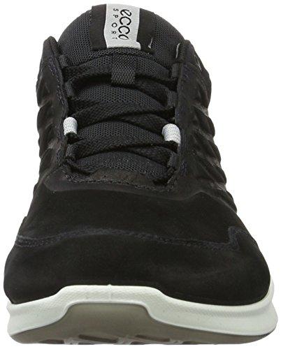 Ecco Gli Uomini Superano La Scarpa Da Passeggio Bassa Moda Sneaker Nera
