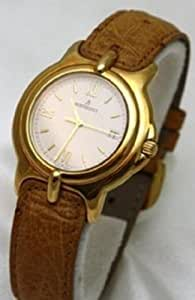 Bertolucci Watches Pulchra 18k Solid Gold and Tan Leather Strap and Date Swiss Men's Watch